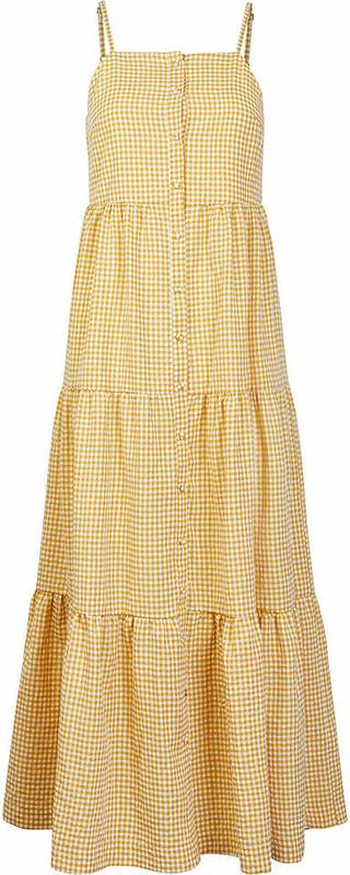 Żółta sukienka Y.A.S z dekoltem w kształcie litery v w stylu casual na ramiączkach