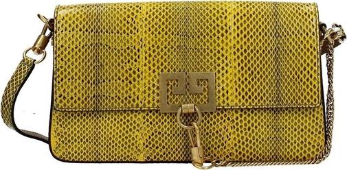 Żółta torebka Givenchy średnia na ramię