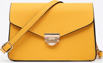 Żółta torebka Sinsay matowa średnia