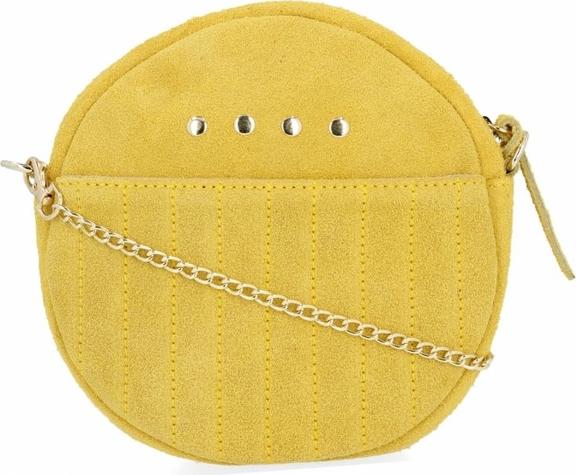 Żółta torebka VITTORIA GOTTI w wakacyjnym stylu mała zamszowa