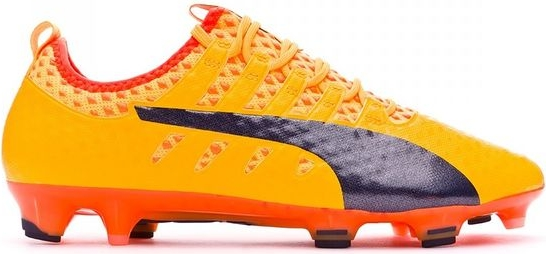 Żółte buty sportowe Puma sznurowane evopower