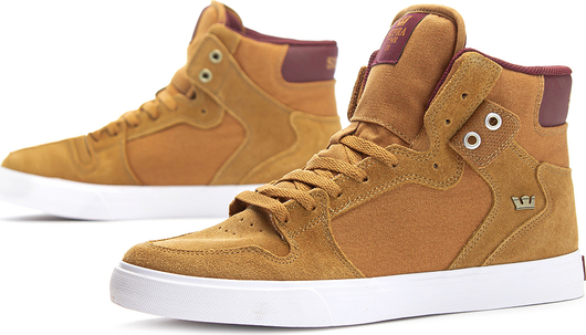 Żółte buty sportowe Supra ze skóry