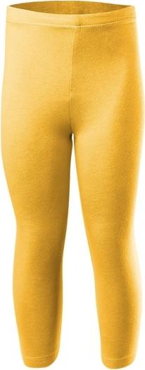 Żółte legginsy dziecięce Rennwear z dzianiny