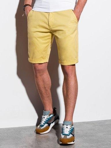 Żółte spodenki Ombre w stylu casual