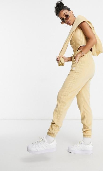 Żółte spodnie Adidas Originals