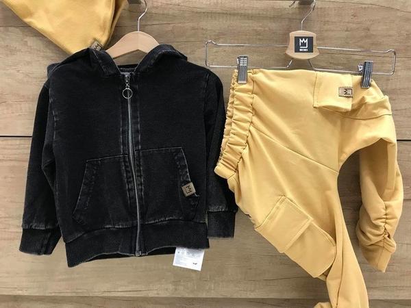 Żółte spodnie dziecięce MIMI dla chłopców