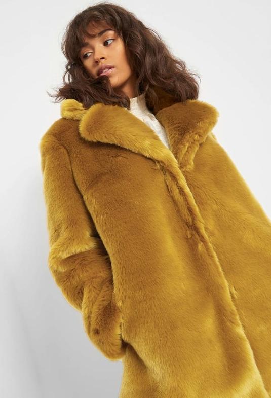 Żółty płaszcz ORSAY w stylu casual