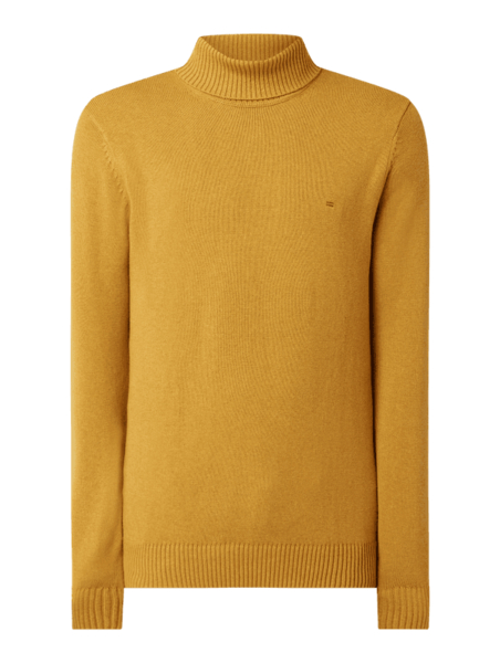 Żółty sweter Christian Berg Men w stylu casual z wełny