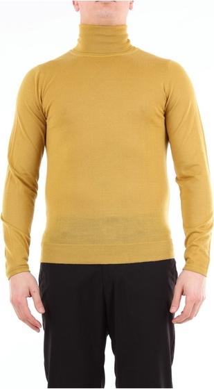 Żółty sweter Daniele Alessandrini w stylu casual