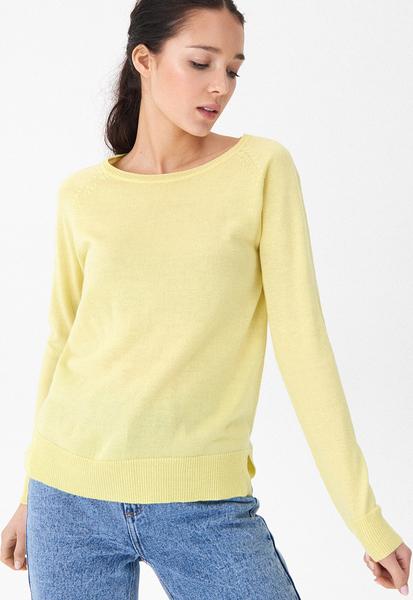 Żółty sweter House w stylu casual