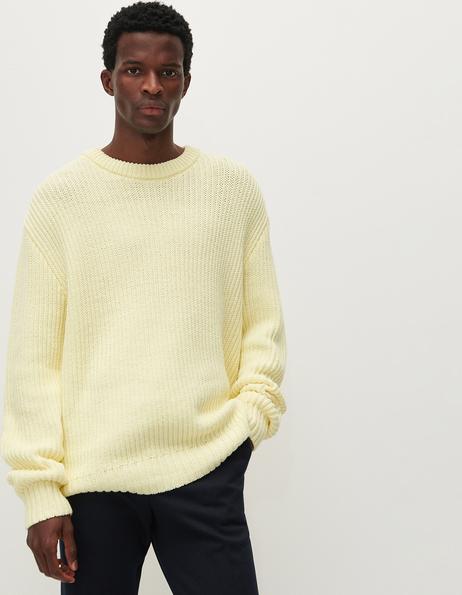 Żółty sweter Reserved z okrągłym dekoltem