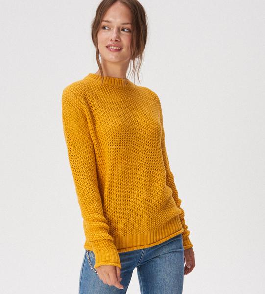 Żółty sweter Sinsay w stylu casual