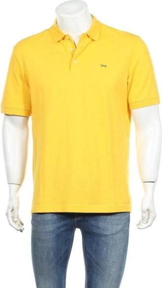 Żółty t-shirt Brax w stylu casual