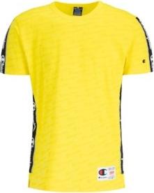Żółty t-shirt Champion z krótkim rękawem