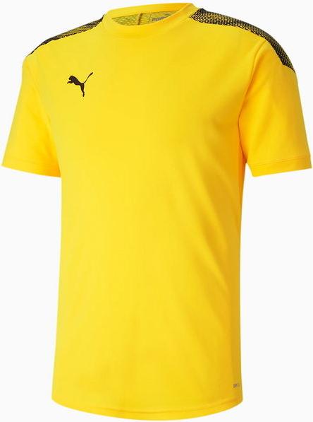 Żółty t-shirt Puma z krótkim rękawem