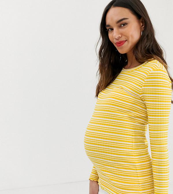 Żółty top Mama Licious