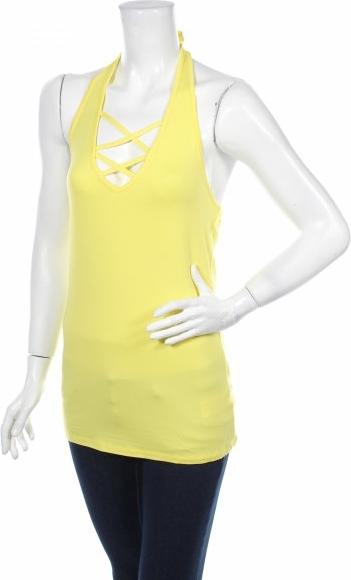 Żółty top Melrose w stylu casual