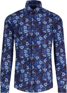Granatowa koszula Tommy Hilfiger z długim rękawem
