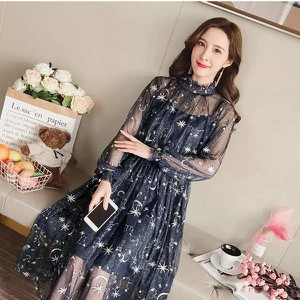 Sukienka Miandmolly maxi z długim rękawem