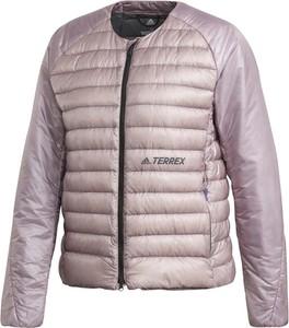 Różowa kurtka Adidas krótka w sportowym stylu