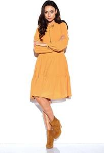 Żółta sukienka Lemoniade midi z długim rękawem