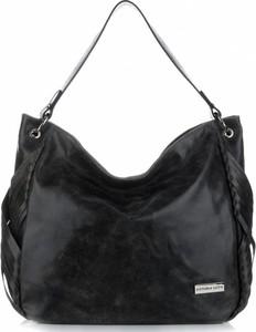 Czarna torebka VITTORIA GOTTI duża na ramię ze skóry