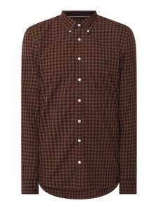 Brązowa koszula Marc O'Polo w stylu casual z długim rękawem z bawełny