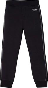 Czarne spodnie dziecięce Hugo Boss dla chłopców