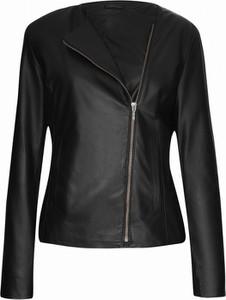 Czarna kurtka V.rooka ze skóry w rockowym stylu