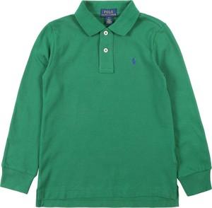 Zielona koszulka dziecięca POLO RALPH LAUREN z dżerseju z długim rękawem