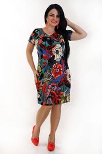 Sukienka Exclusive Line z krótkim rękawem w stylu casual midi