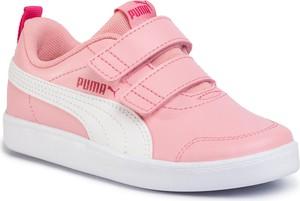 Różowe buty sportowe dziecięce Puma na rzepy