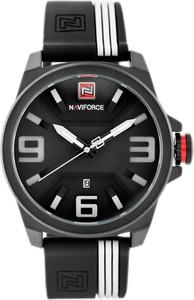 ZEGAREK MĘSKI NAVIFORCE - NF9098 (zn045b) - black/white - Czarny || Biały