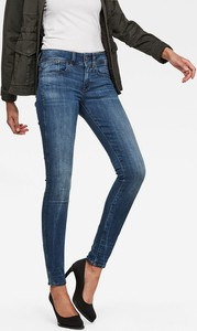 Granatowe jeansy G-Star Raw z bawełny