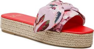Różowe klapki Liu-Jo z tkaniny w stylu casual z nadrukiem