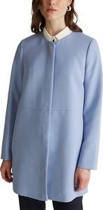 Niebieski płaszcz Esprit w stylu casual