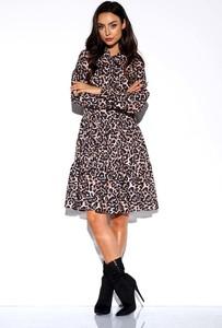 Sukienka Lemoniade z żabotem mini w stylu casual