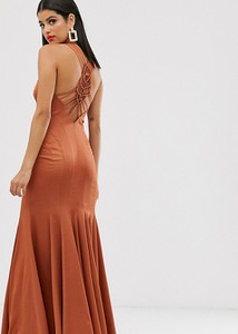 Brązowa sukienka Asos bez rękawów