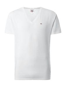 T-shirt Tommy Jeans w street stylu z krótkim rękawem z jeansu