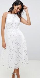 Sukienka Asos z dekoltem halter z tiulu