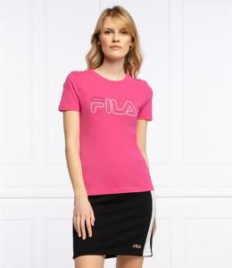 Różowa bluzka Fila z krótkim rękawem