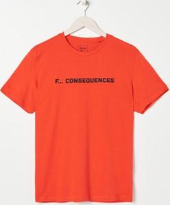 T-shirt Sinsay w młodzieżowym stylu z krótkim rękawem z bawełny
