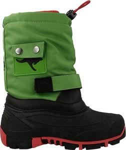Zielone buty dziecięce zimowe kangaroos