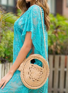 Niebieska torebka Cikelly na ramię średnia
