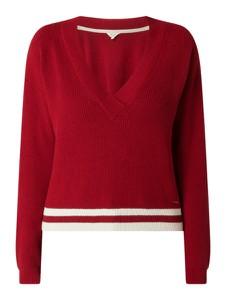 Czerwony sweter Pepe Jeans z bawełny