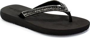 Czarne klapki GIOSEPPO w stylu casual