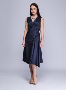 Niebieska sukienka Semper z bawełny
