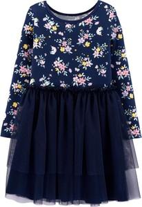 Sukienka dziewczęca Carter's w kwiatki z bawełny
