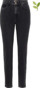 Czarne jeansy Pieces w stylu casual z bawełny