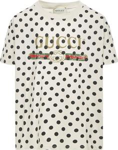 Koszulka dziecięca Gucci w groszki z bawełny